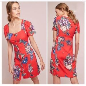 NWT Anthro Maeve Caldwell Buttonfront Floral Dress